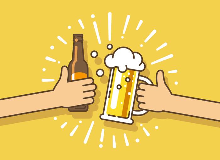 誕生日祝いのビールをおごるつもりで