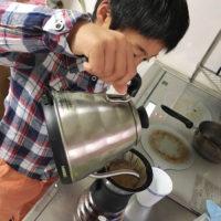 息子のモーニングコーヒー