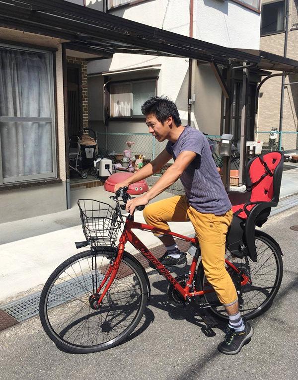 クロスバイクにチャイルドシート