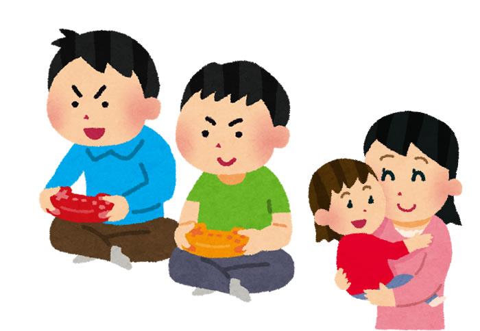 家族の団らんは、親子両方の笑い声によってうまれる