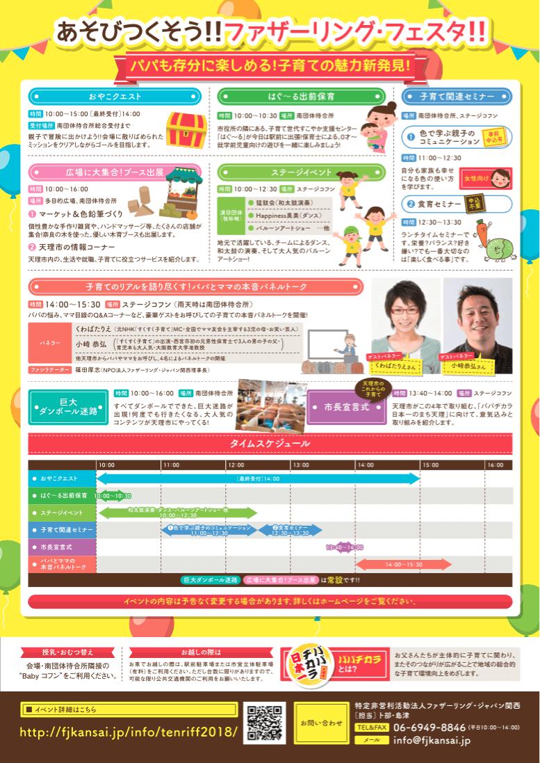 【告知】3/18(日)「第1回ファザーリングフェスタ in天理」